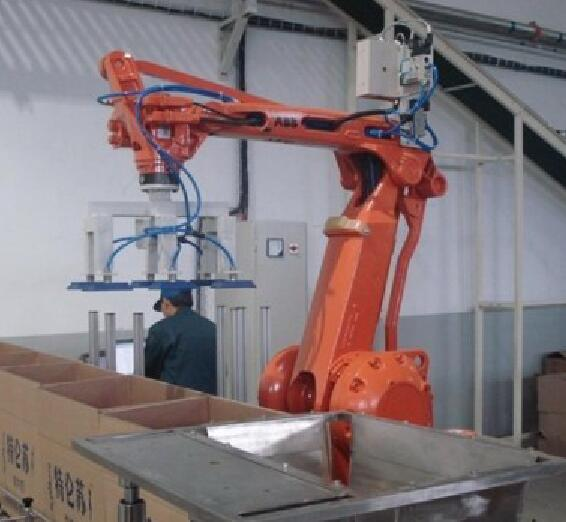 Lay Cartons Plastic Robot Palletizer Machine Fully Automatic Metal